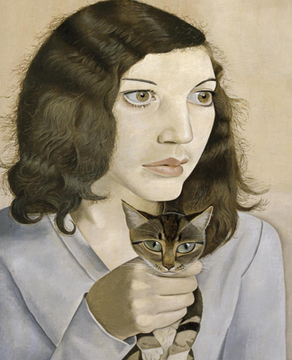 lucia freud-girl with kitten